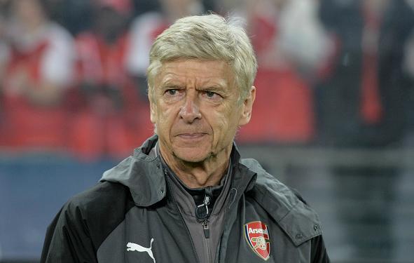 Arsene Wenger, en un partido de la Premier de esta temporada (Getty).
