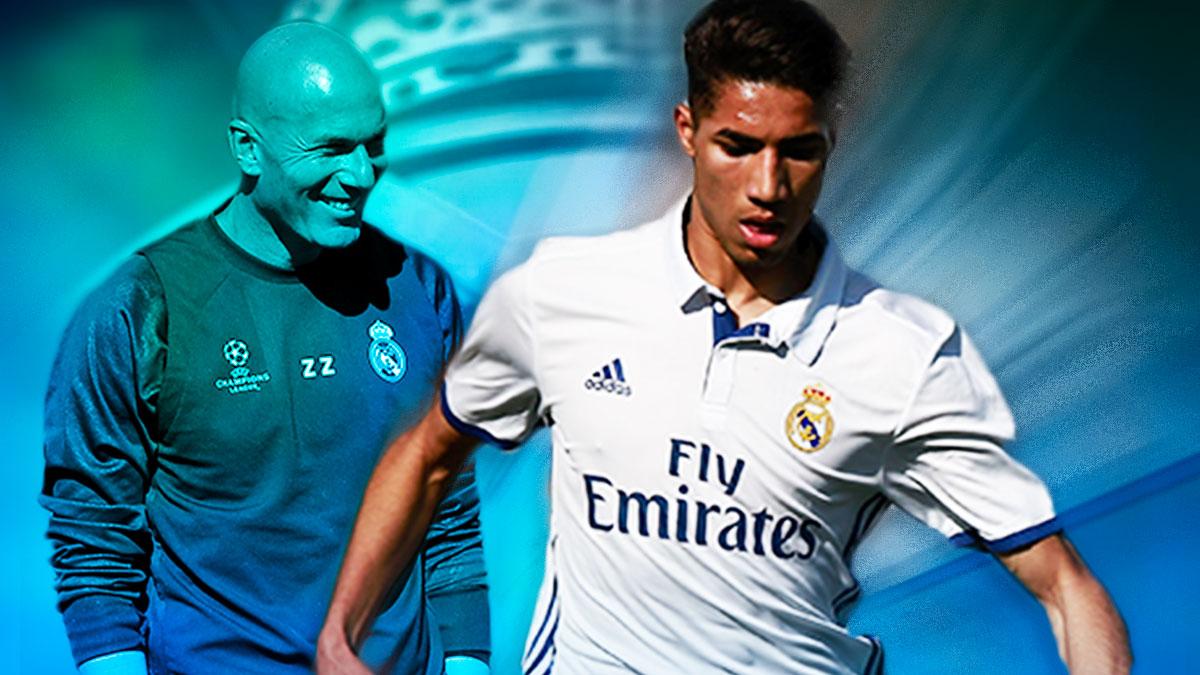 Achraf tiene intención de convencer a Zidane para quedarse en el Real Madrid.
