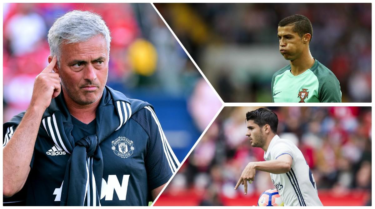 Mourinho descarta los fichajes de Cristiano y Morata. (AFP)