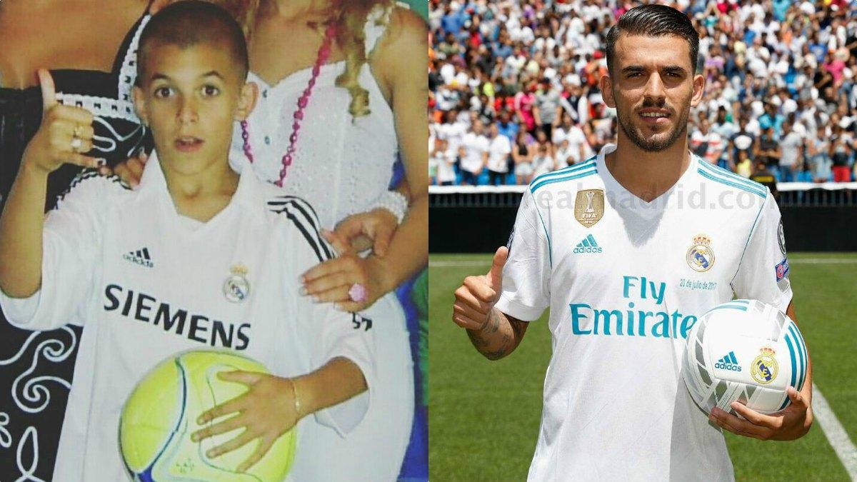 Dani Ceballos ya vestía los colores del Real Madrid de pequeño.