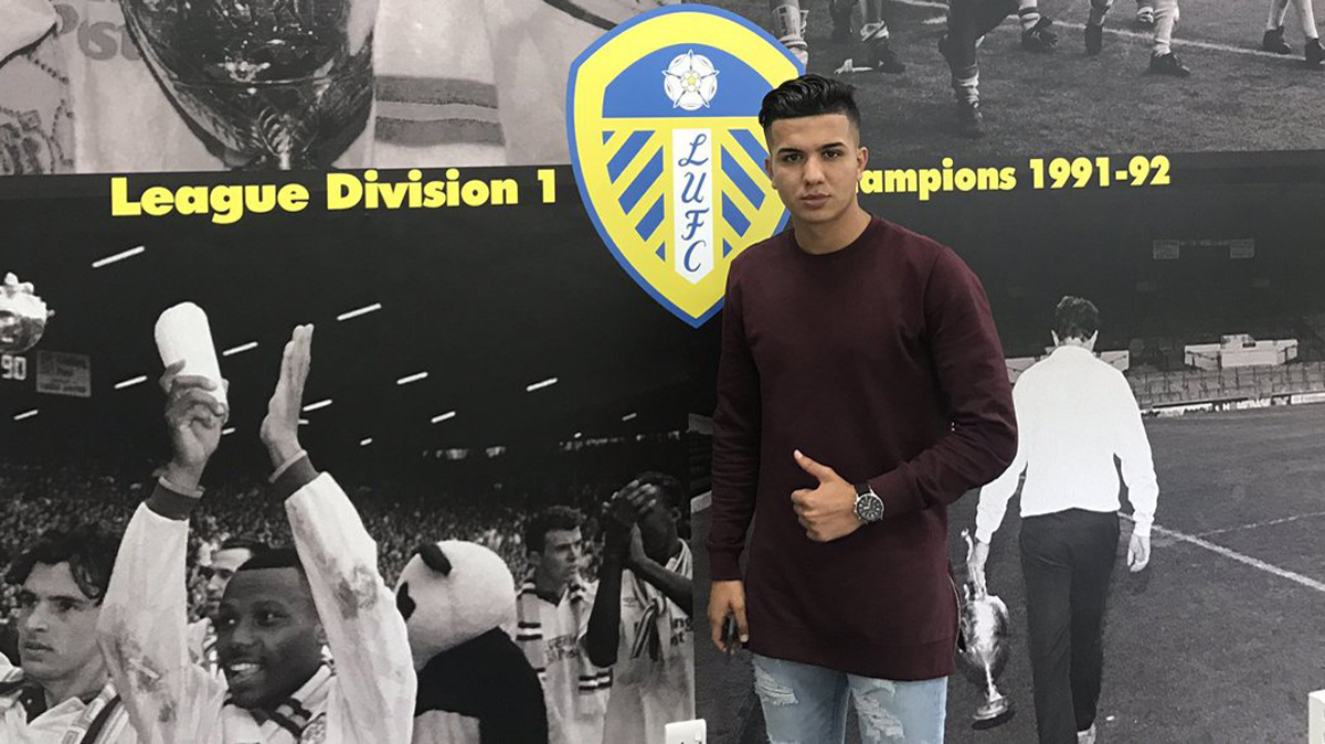 Ousama Siddiki, tras firmar por el Leeds United.