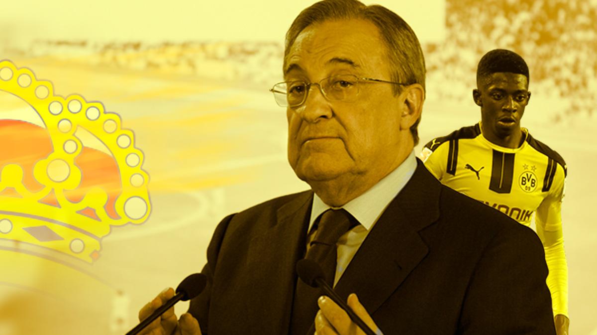 Florentino Pérez piensa en Dembelé como alternativa a Mbappé.