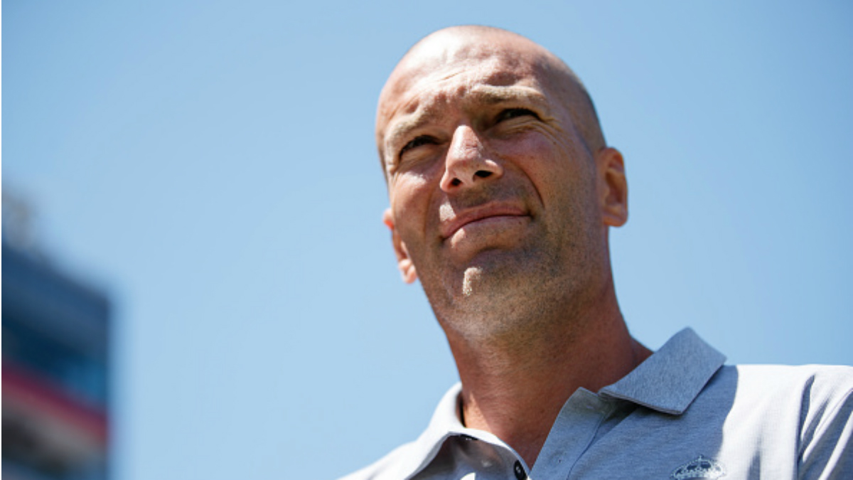 Zinedine Zidane durante el partido ante el United en la pretemporada en Estados Unidos (Getty)