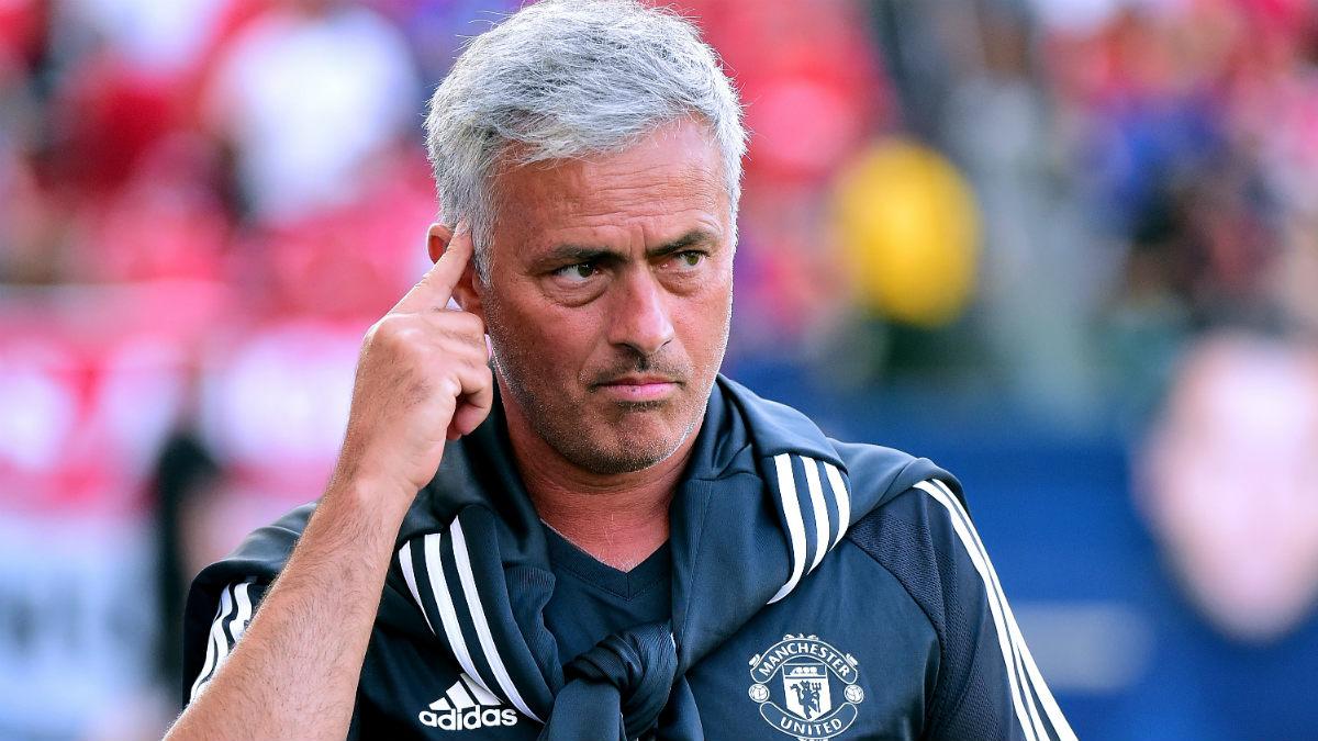 Jose Mourinho durante un partido de pretemporada con el United. (Getty)