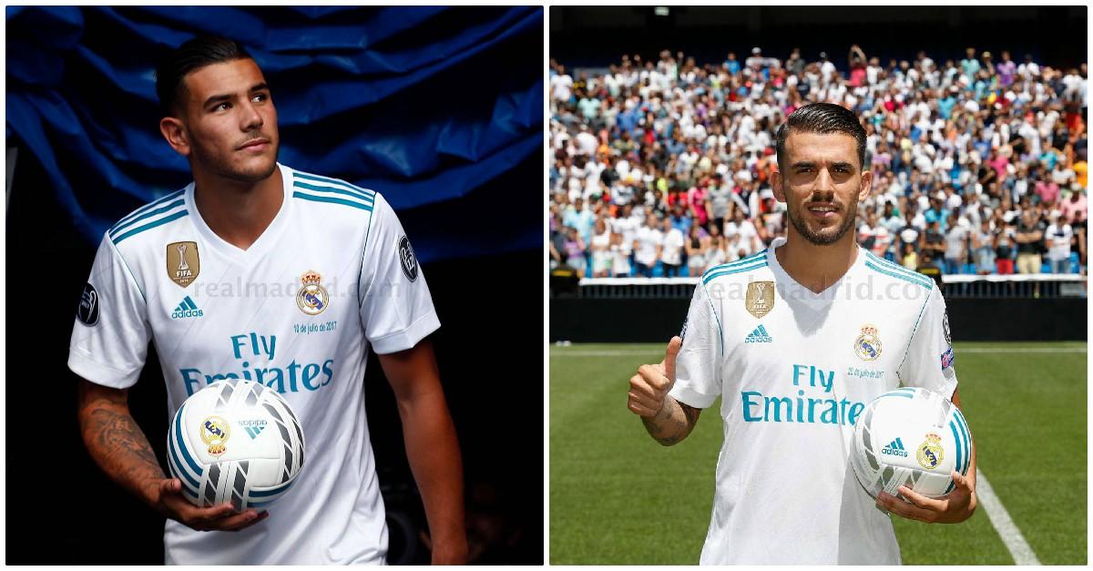 Theo Hernández y Dani Ceballos, dos fichajes que el Real Madrid arrebató al Barcelona.