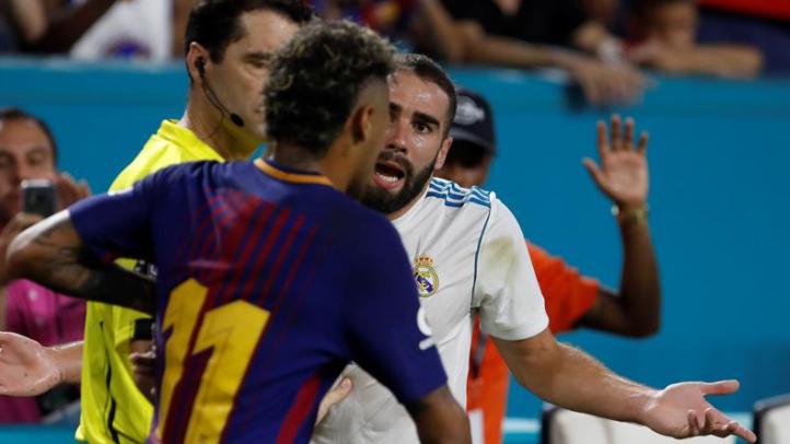 Carvajal se picó con Neymar. (Twitter)