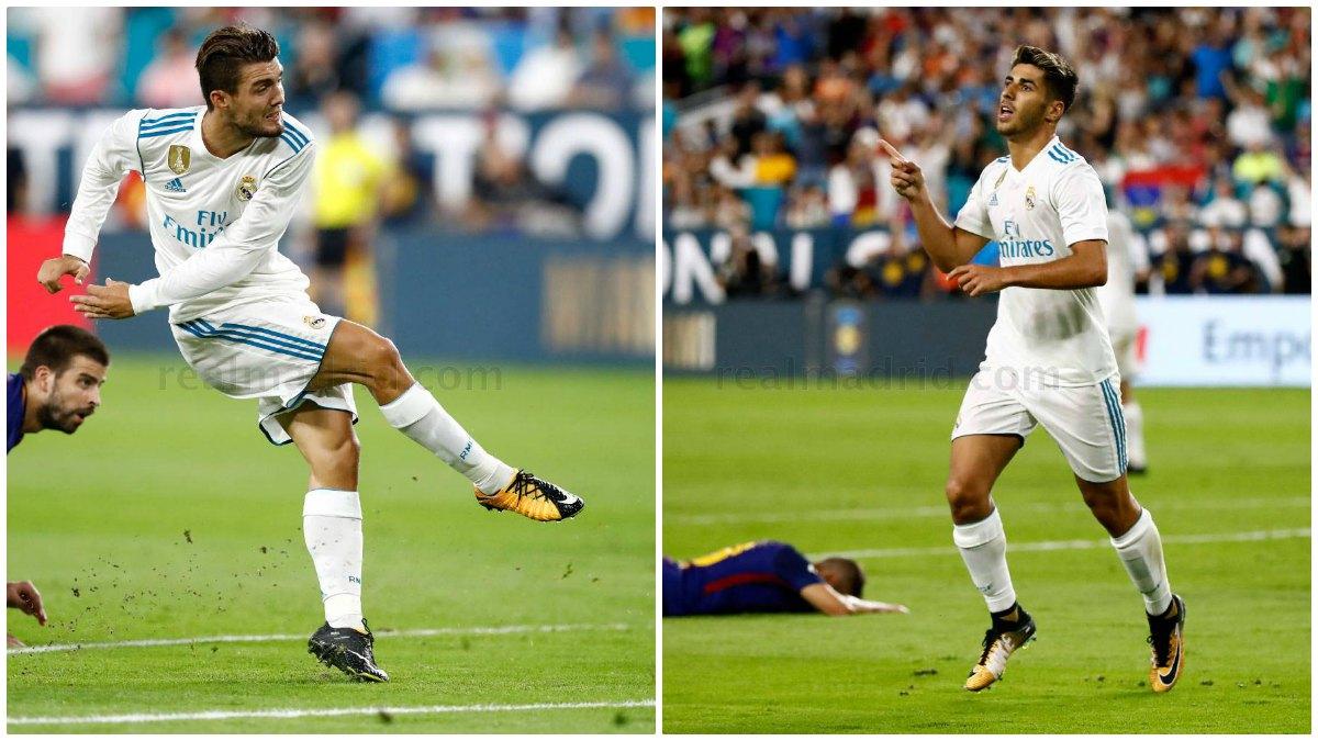 Mateo Kovacic y Marco Asensio contra el Barcelona. (realmadrid.com)
