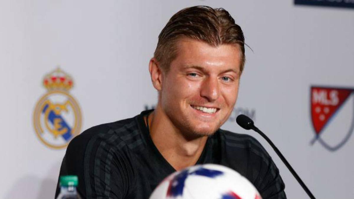 Toni Kroos, en la rueda de prensa previa al duelo contra el MLS All-Stars. (realmadrid.com)