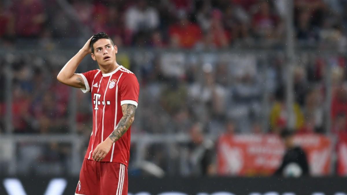 James, en un partido del Bayern. (AFP)