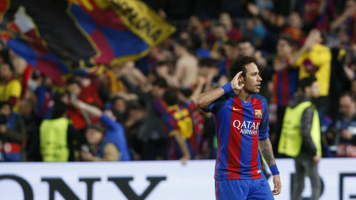 Neymar, el día de la remontada del Barcelona al PSG. (AFP)