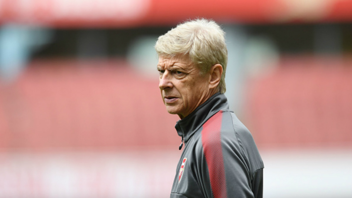 Arsene Wenger, durante un entrenamiento de esta pretemporada (Getty).