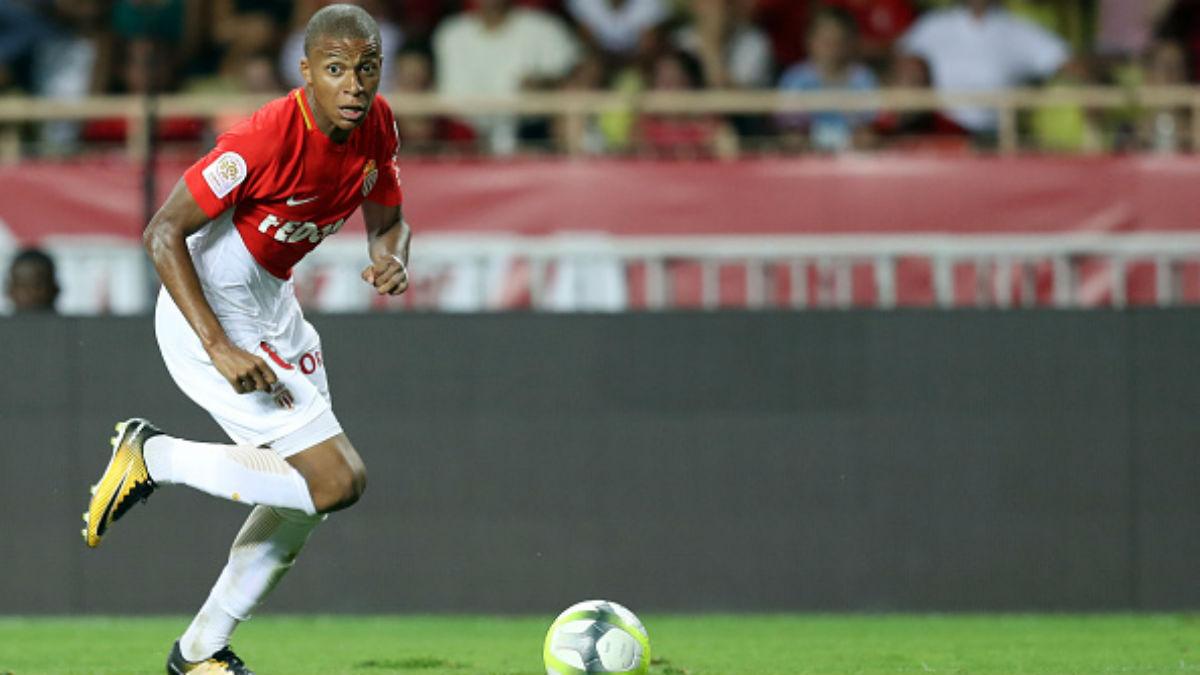 Mbappé en su debut de Liga con el Monaco en la presente temporada (Getty).