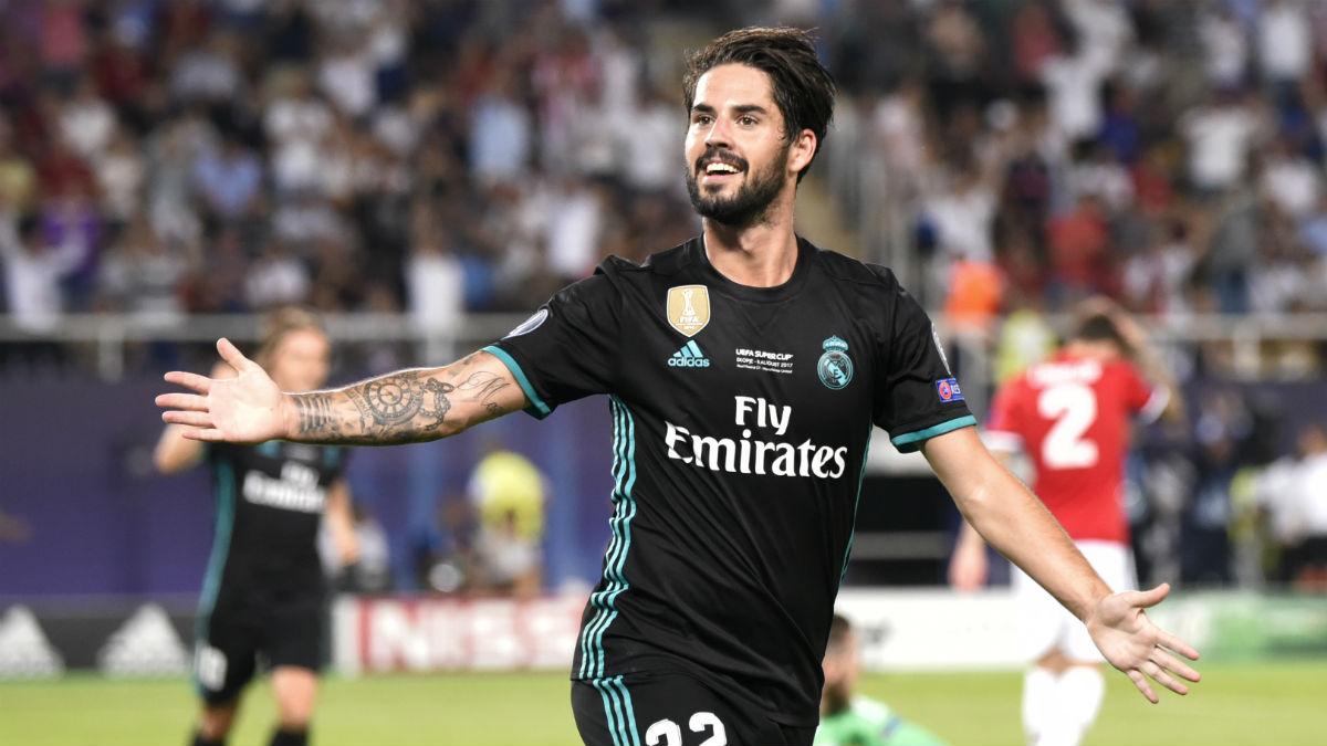 Isco celebra el segundo gol del Real Madrid. (AFP)
