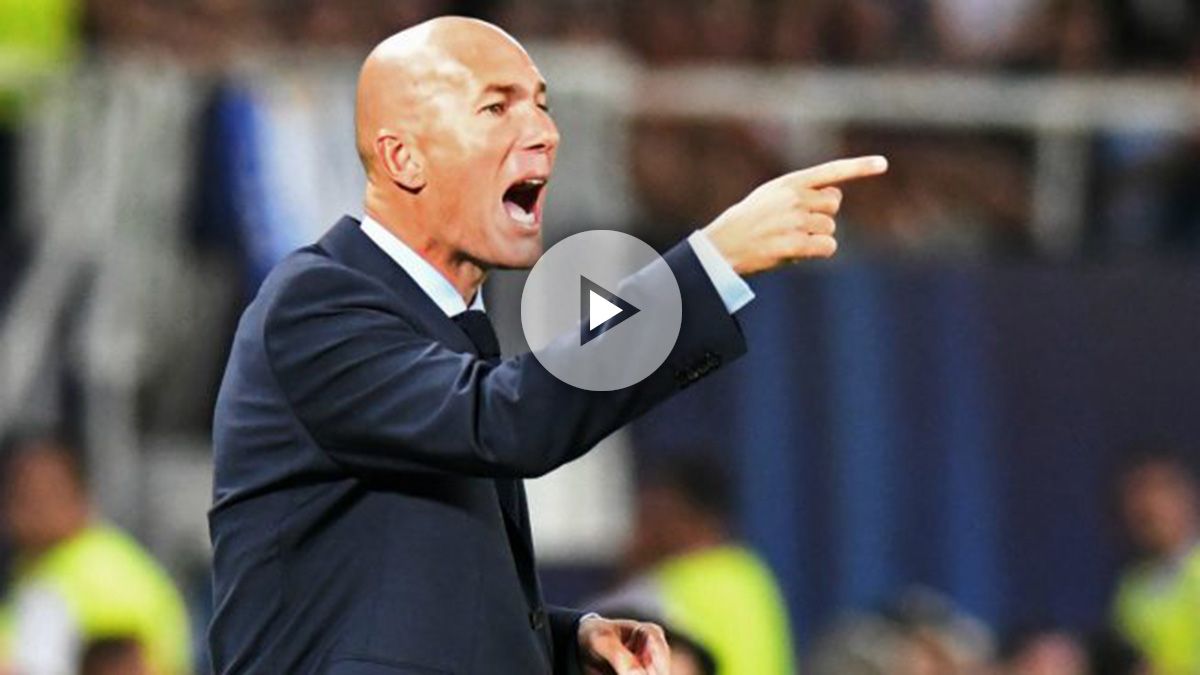 Zinedine Zidane da instrucciones durante la Supercopa de Europa. (AFP)