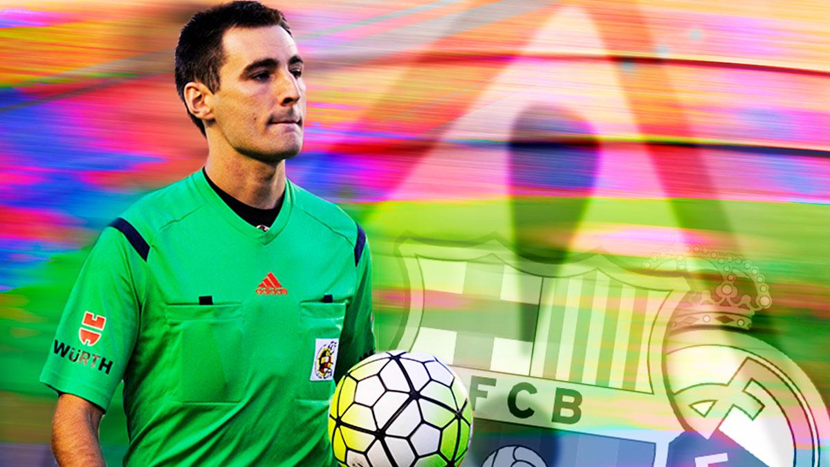 Cuidado con De Burgos: el Barça está invicto con él y ya sabe lo que es perjudicar al Madrid