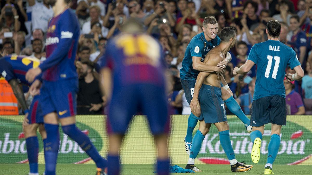 Cristiano Ronaldo celebra el 1-2. (AFP)