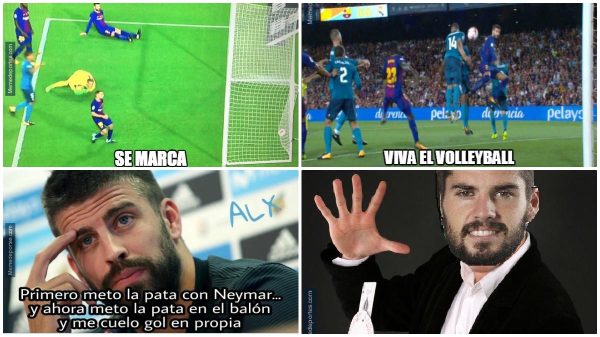 Piqué, protagonista de los memes del Clásico de la Supercopa de España.