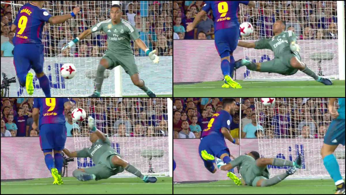 Keylor no cometió penalti sobre Suárez.