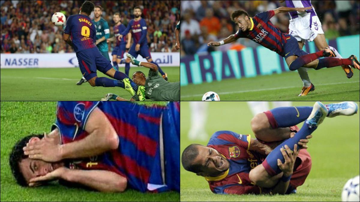 Los jugadores del Barça, expertos en hacer teatro.