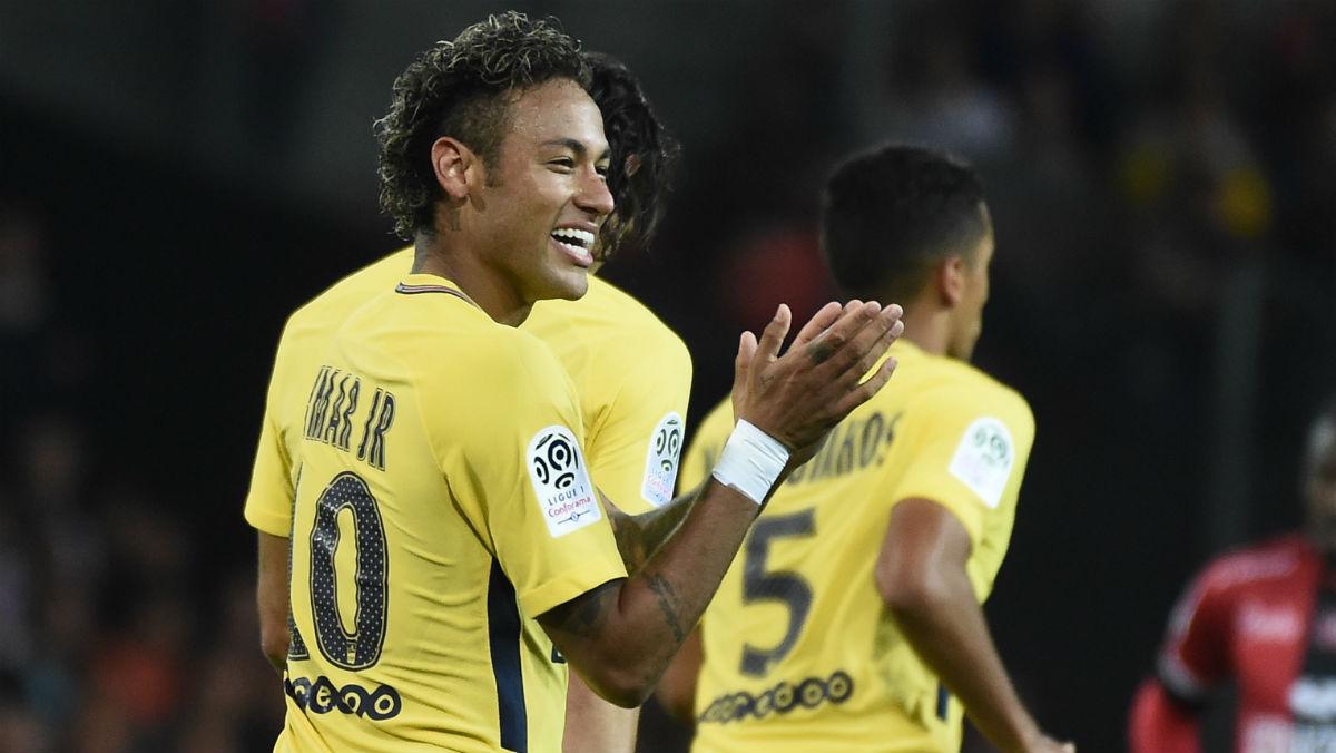Neymar, en su debut con el PSG. (AFP)