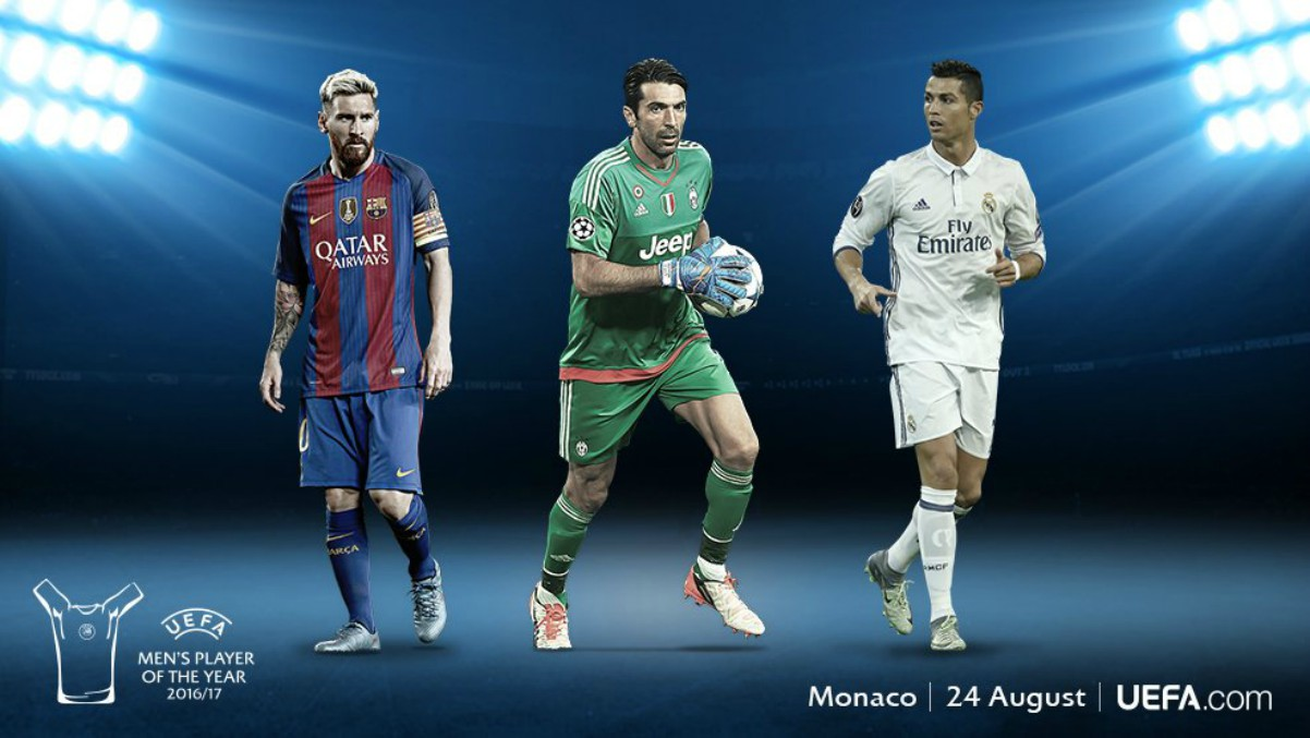 Cristiano Ronaldo, Messi y Buffon.