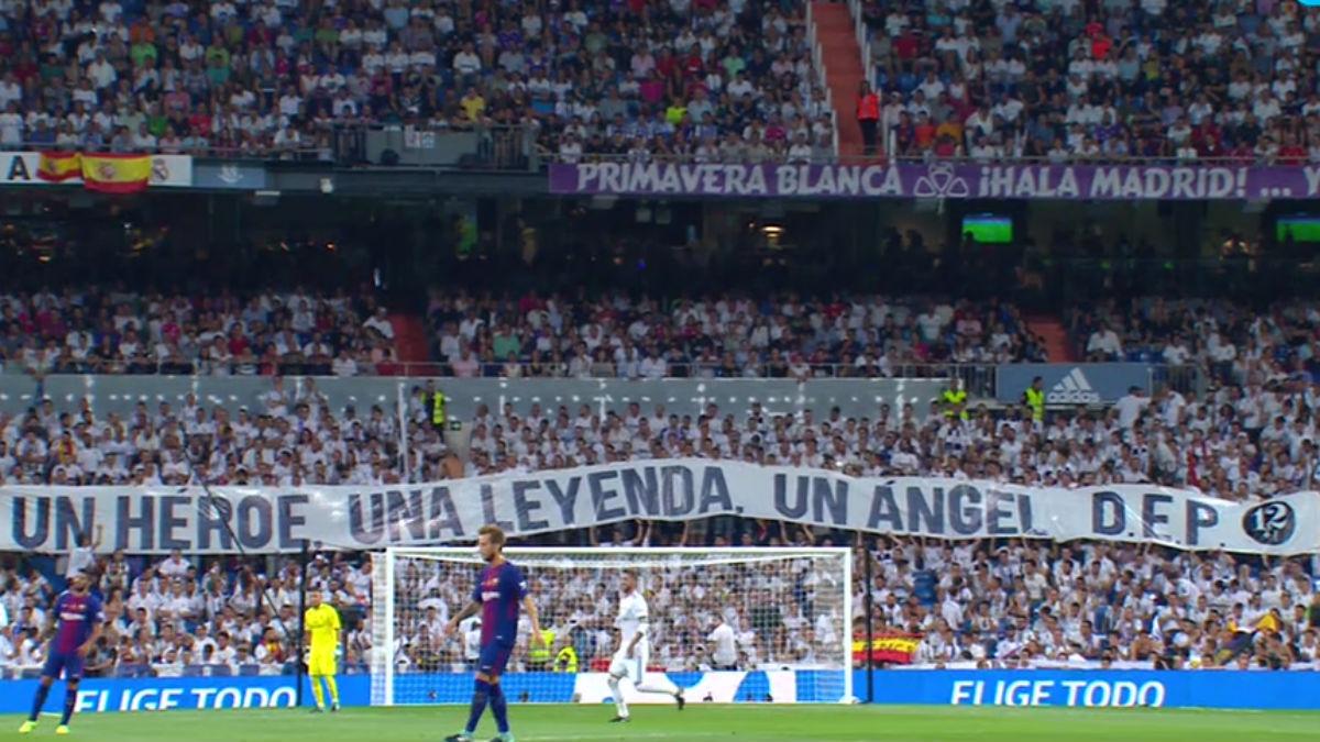 El Bernabéu homenajeó a Ángel Nieto.