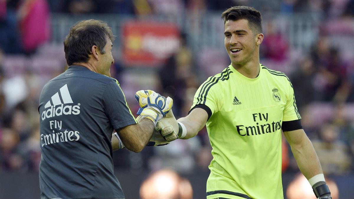 Rubén Yáñez, en un partido en el Camp Nou. (AFP)