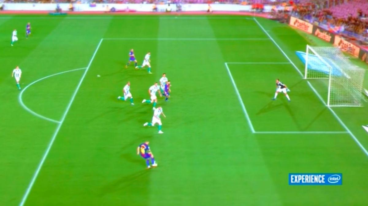 Messi estaba en fuera de juego en el primer gol del Barça.