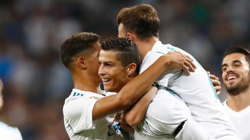 Cristiano celebra un gol de esta temporada.