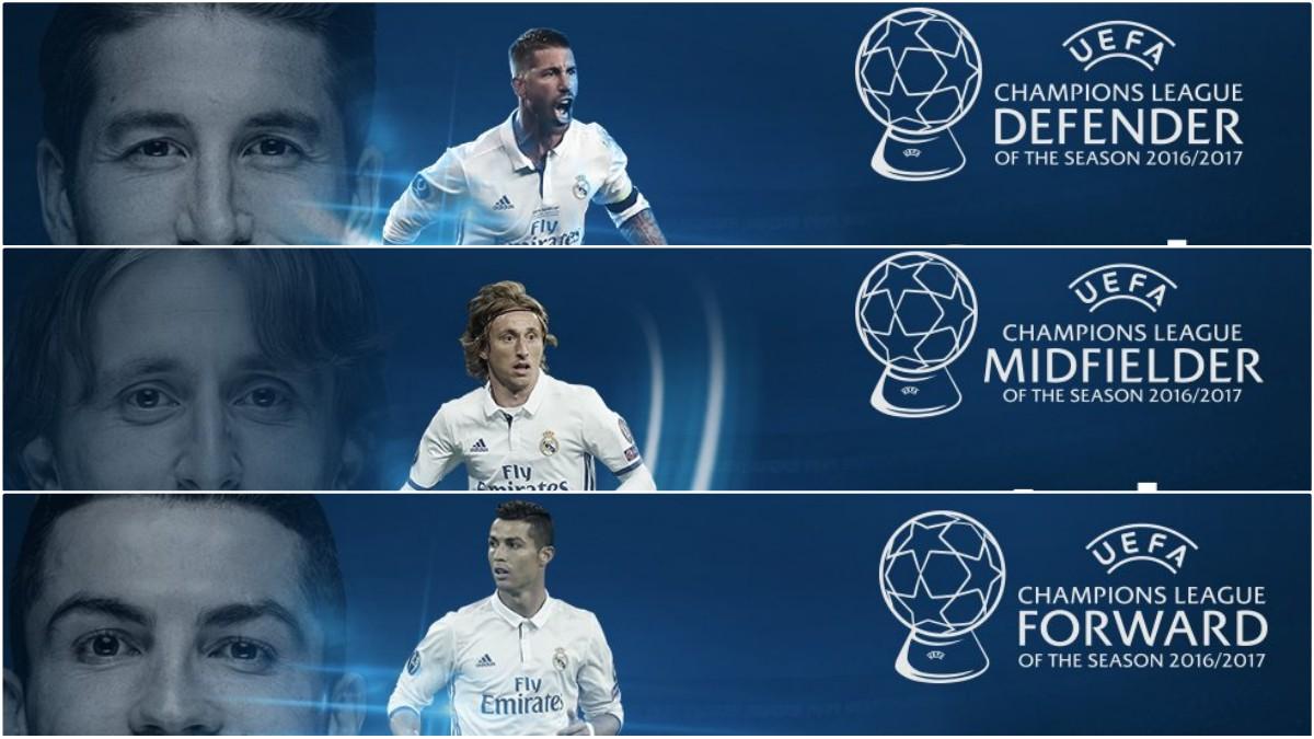 El Real Madrid fue el gran protagonista de los premios UEFA.