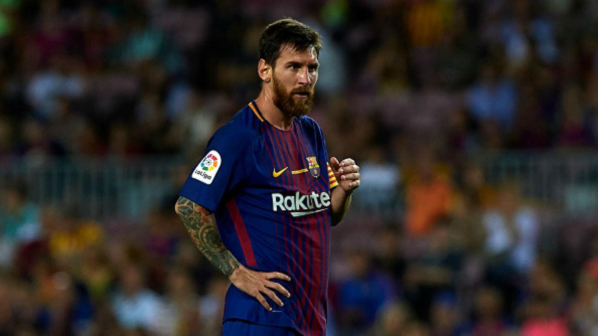 Messi, durante el partido del Barça ante el Betis de Liga (Getty).