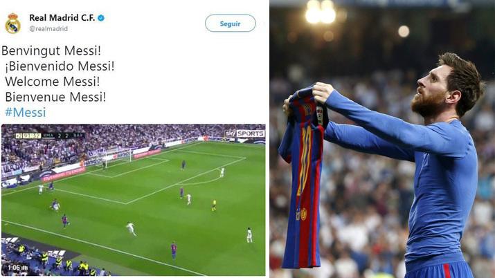 El tweet publicado por el perfil de Twitter del Real Madrid.