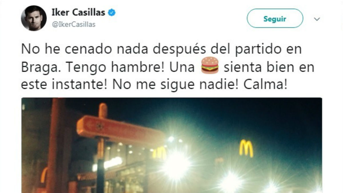 Casillas tuiteó rindiendo homenaje a Manuel Bartual (Twitter).