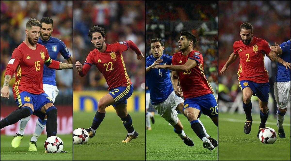 Los madridistas destacaron con España.