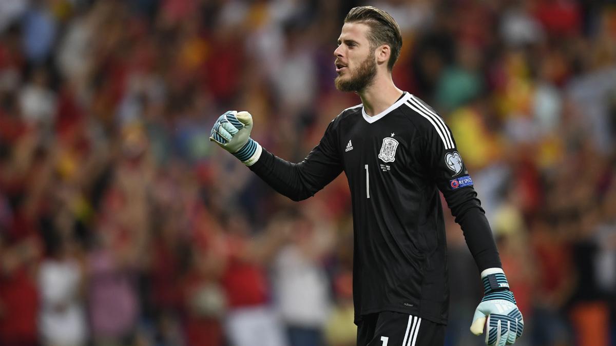 De Gea rindió a un buen nivel contra Italia. (AFP)