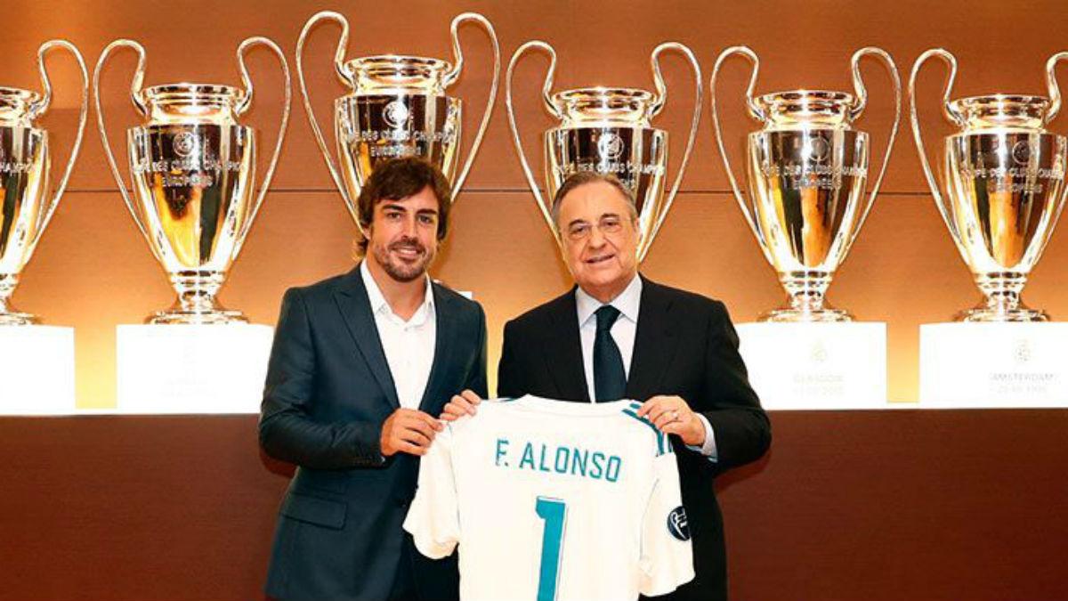Fernando Alonso y Florentino Pérez.
