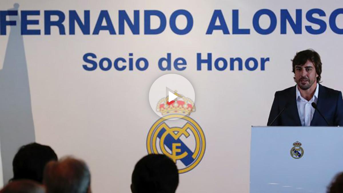 Fernando Alonso presumió de madridismo. (EFE)