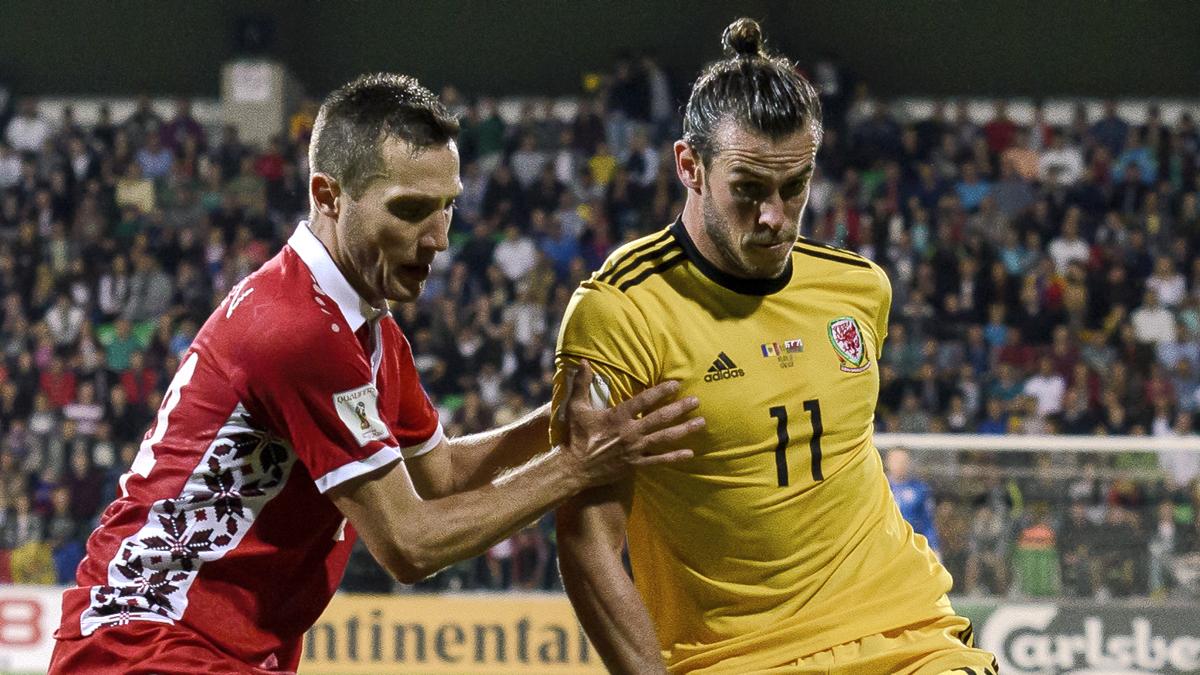 Bale, durante el Moldavia-Gales de este martes (AFP).