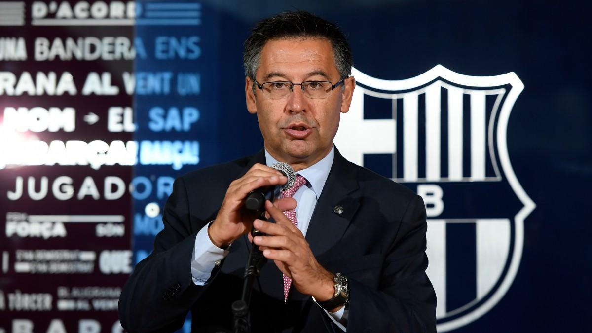 Bartomeu, en un acto con el Barcelona. (AFP)
