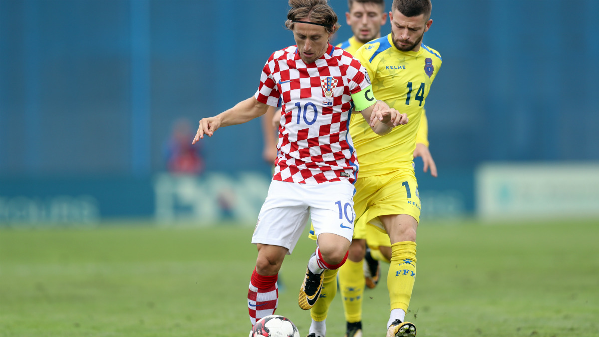 Luka Modric, en un partido con Croacia.