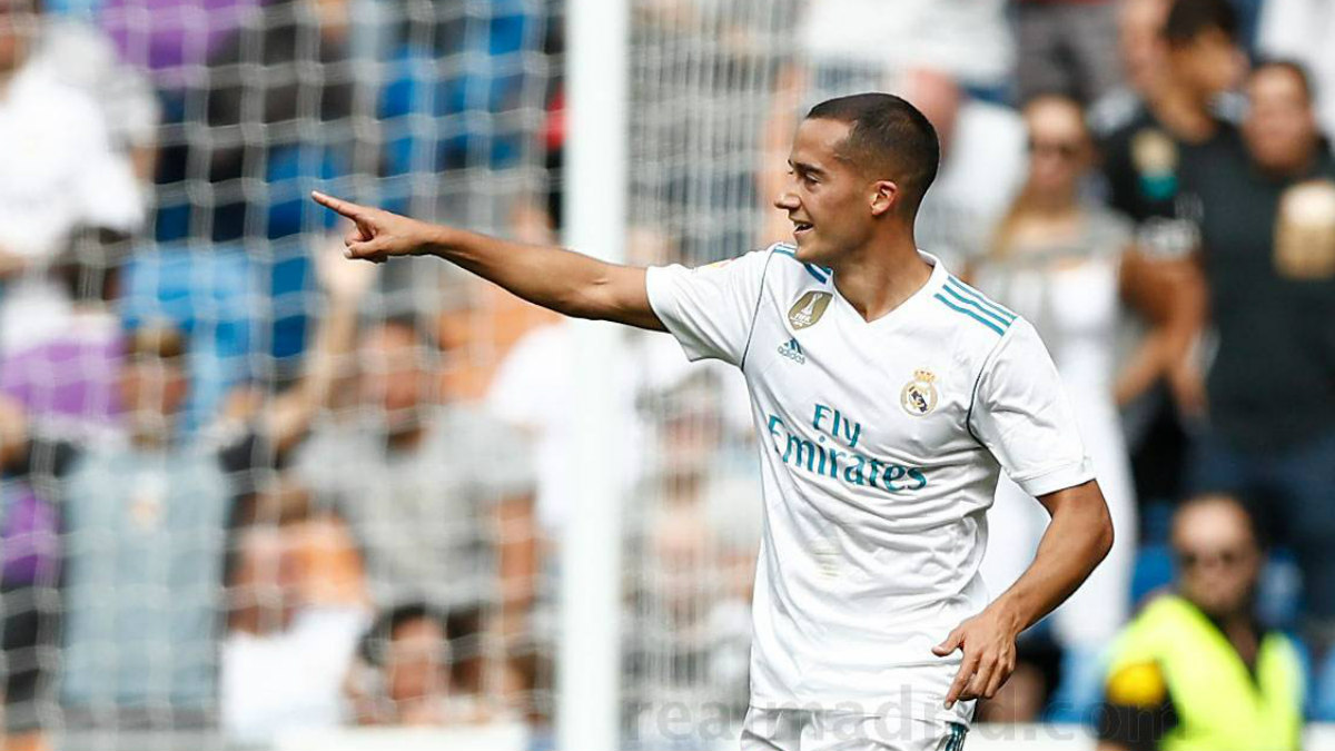 Lucas Vázquez celebra su gol ante el Levante. (realmadrid.com)