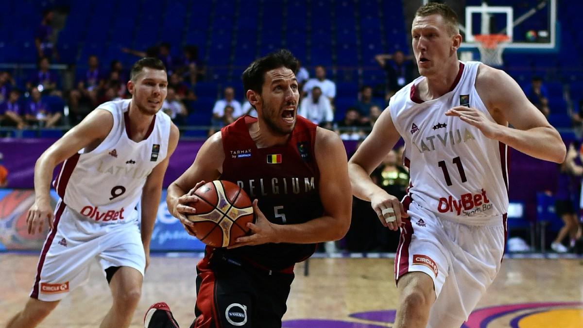Van Rossom, en el Eurobasket con Bélgica. (AFP)