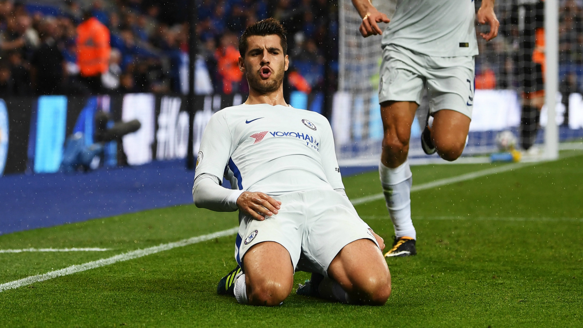Morata celebra un gol con el Chelsea. (Getty Images)