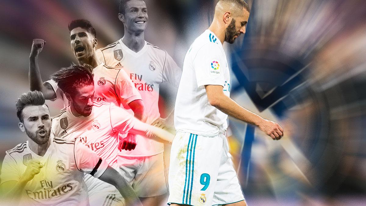 Karim Benzema ha dejado al Real Madrid huérfano de delanteros centro.
