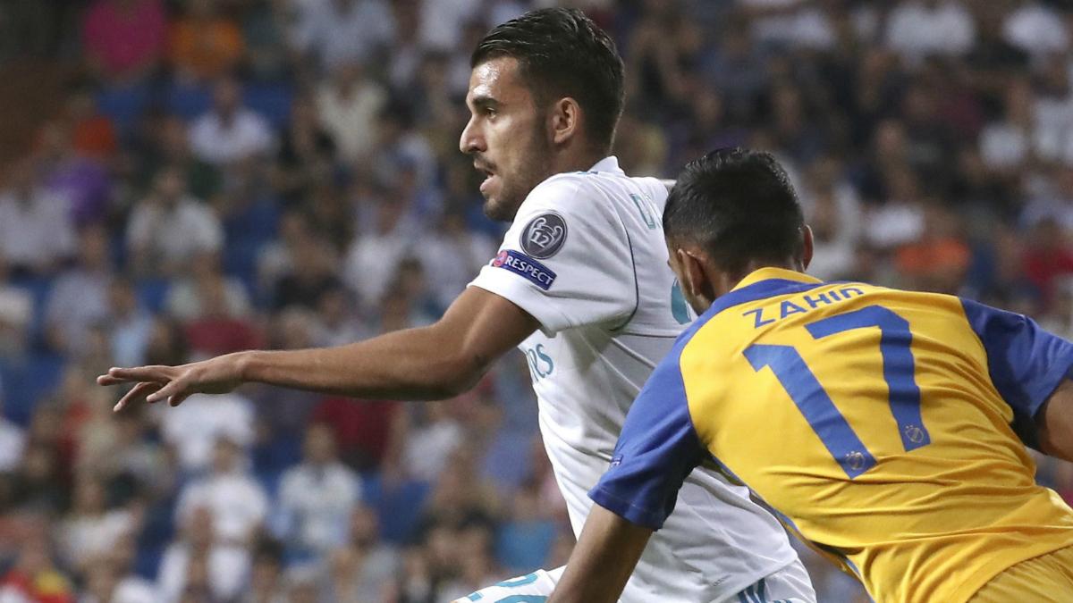 Dani Ceballos contra el APOEL. (EFE)