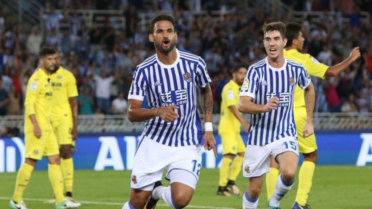 Willian José celebra un gol contra el Villarreal. (Realsociedad.com)