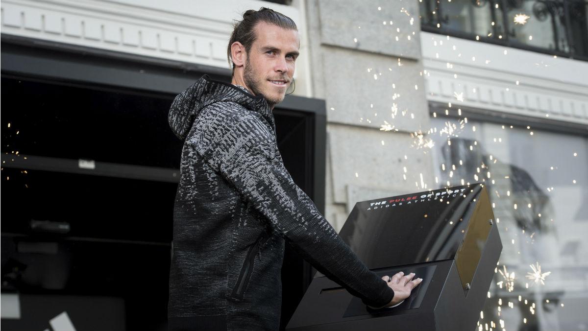 Gareth Bale durante un acto en Madrid. (EFE)