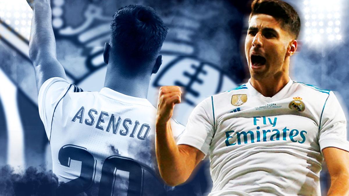 Marco Asensio se estrenó en Liga el año pasado en Anoeta.