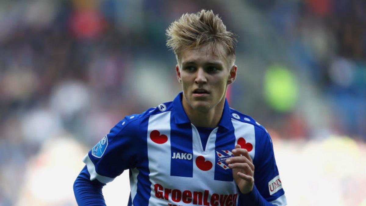 Martin Odegaard en un partido del Heerenveen esta temporada (Getty).