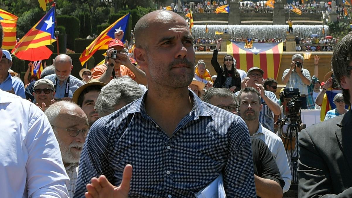 Guardiola, uno de los referentes del independentimo de Catalunya. (AFP)